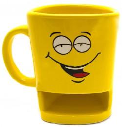 Чашка Смайл с отделением для печенья