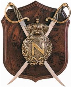 Панно Наполеон, щит и 2 сабли