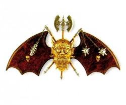 Панно «Летучая мышь» с боевой секирой и 2 булавами, Denix 534