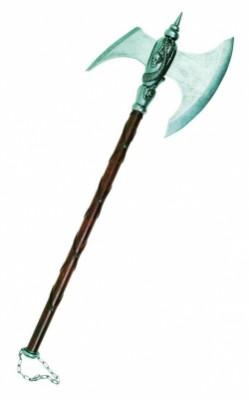 Топор боевой варваров, с цепью, серый, Denix 601G