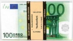 """Пачка  """"100 €""""  (подарочная)"""
