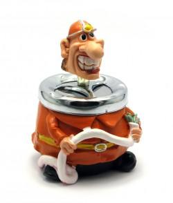 Пепельница керамическая с крышкой Пожарник