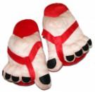 Тапочки супер ноги красные