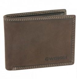 Кожаное портмоне Wenger W5-21DB, коричневое