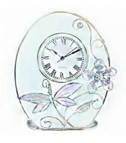 Часы настольные Jardin D`Ete «Фиолетовая стрекоза», 18470E
