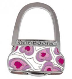 Держатель для сумки Jinli «Розовые сердечки» JIN132