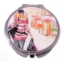 Зеркало косметическое Jardin D`Ete «Девушка на прогулке»