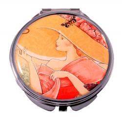 Зеркало косметическое Jardin D`Ete «Девушка в шляпке»