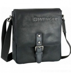 Черная сумка Wenger Foggy W30-01BK кожаная