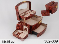 Шкатулка коричневая 19х15х13