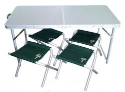Стол туристический складной 21407 + 4 стула
