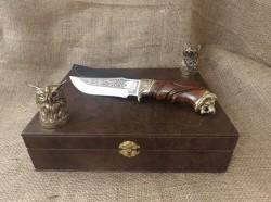 Набор 2 чарки Охотничьи с ножом