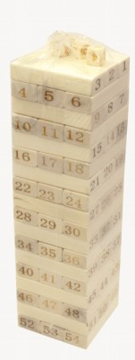 Игра настольная Дженга 54 бруска 4 кости