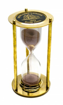 Часы песочные бронзовые большие
