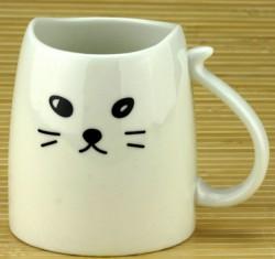 Чашка Кошка с хвостом белая