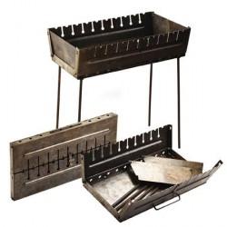 Мангал чемодан на 12 шампуров