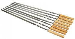 Шампура с деревянной ручкой комплект 8шт