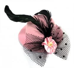 Шляпа гламур маленька с бантом