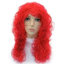 Парик длинные волосы красный