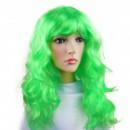 Парик длинные волосы зеленый