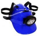 Шлем для пива МЧСника с фонарем синий