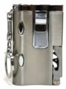 Зажигалка карманная серебряная с фонариком и штопором
