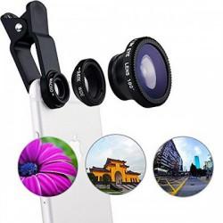 Комплект универсальных линз для объектива телефона fisheye 3 in 1