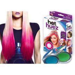 Цветная пудра (мелки) для волос цветные Hot Huez