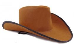 Шляпа Ковбоя Фетр коричневая