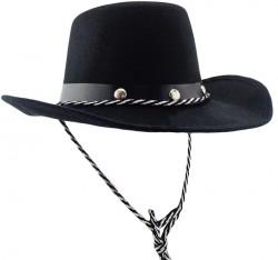 Шляпа Ковбоя детская с заклепками (черная)