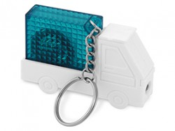 Брелок рулетка автомобиль с фонариком синий
