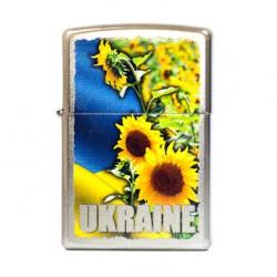 Зажигалка Zippo Classics Ukraine Sunflower Field Satin Chrome