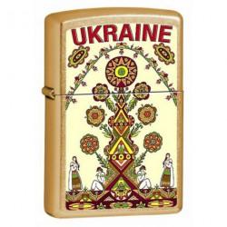 Зажигалка Zippo Classics Ukraine Tree Gold Dust