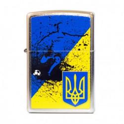 Зажигалка Zippo Classics Ukraine Soccer Flag Street Chrome