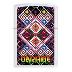 Зажигалка Zippo Classics Ukraine Pattern 1 White Matte