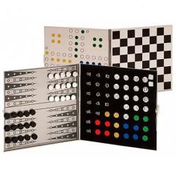 Набор дорожных игр: нарды + шахматы + шашки Romanowski
