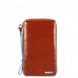 Тревеллер Piquadro на молнии с отдел. для кредитных карт + клатч BL SQUARE/Orange
