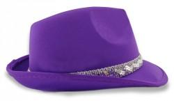 Шляпа Твист атласная фиолетовая