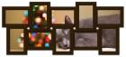 Деревянная мультирамка История на 10 фото шоколад (венге)