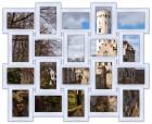 Деревянная мультирамка Классика на 20 фото белая