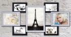 Пластиковая мультирамка Семь желаний на 7 фото черно-белая