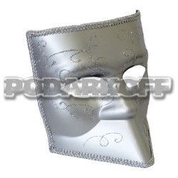 Венецианская маска Баута серебро