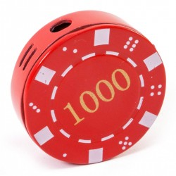 Зажигалка газовая Покерная фишка красная