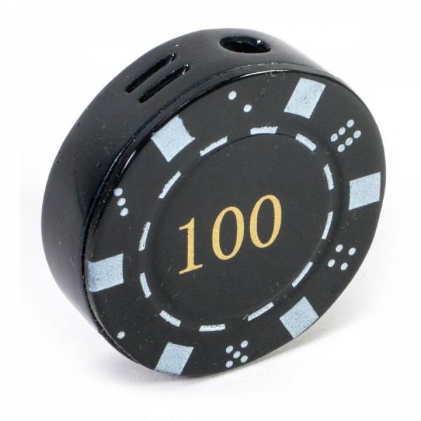 Зажигалка газовая Покерная фишка черная