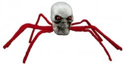 Декор Паук-череп красный