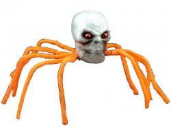 Декор Паук-череп оранжевый