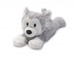 Мягкая игрушка-грелка Хаски лежащий