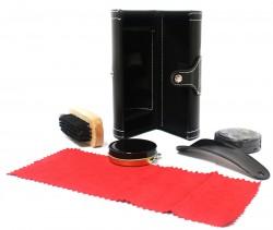 Дорожный набор для ухода за обувью черный