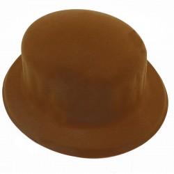 Шляпа Котелок Флок коричневый
