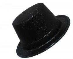 Шляпа детская Цилиндр блестящая черная